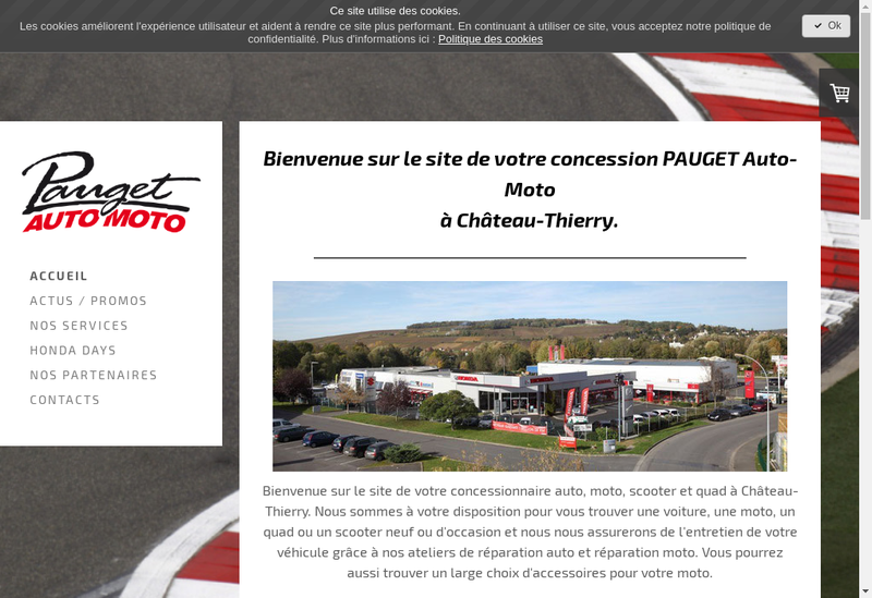 Capture d'écran du site de Center Auto Moto
