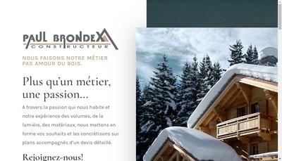 Site internet de Les Chalets Paul Brondex