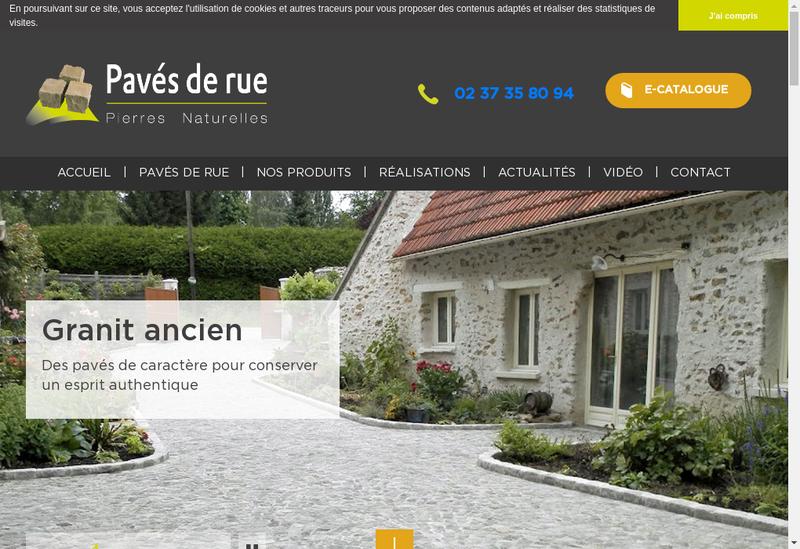 Capture d'écran du site de Paves de Rue