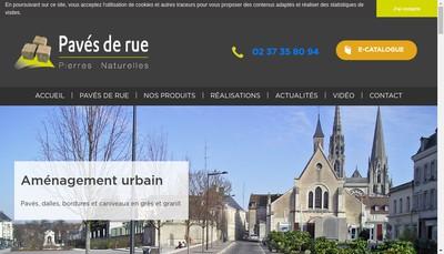 Site internet de Paves de Rue