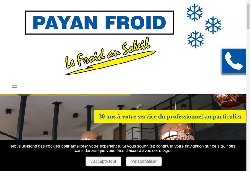 Capture d'écran du site de Payan Froid