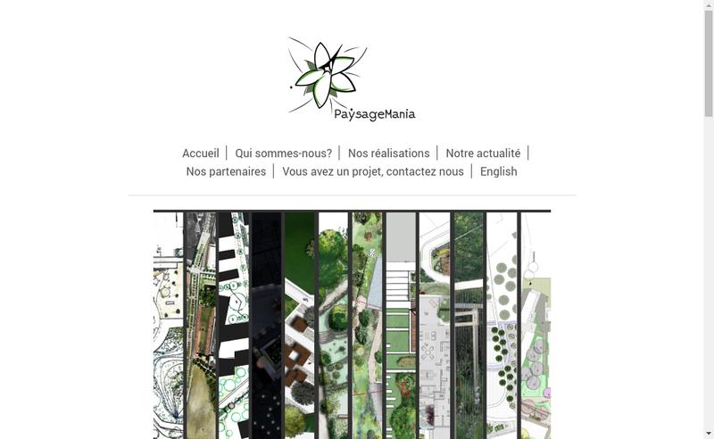 Capture d'écran du site de Paysagemania