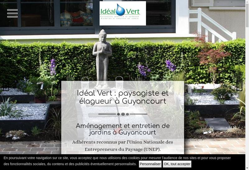 Capture d'écran du site de Ideal Vert