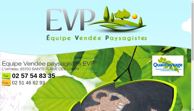 Capture d'écran du site de Equipe Vendee Paysagistes