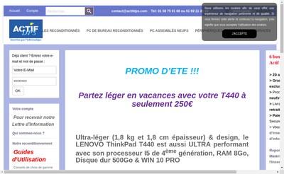 Site internet de Actif - Dps