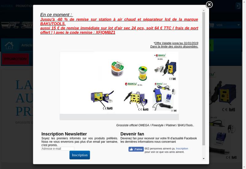 Capture d'écran du site de Pc Simply
