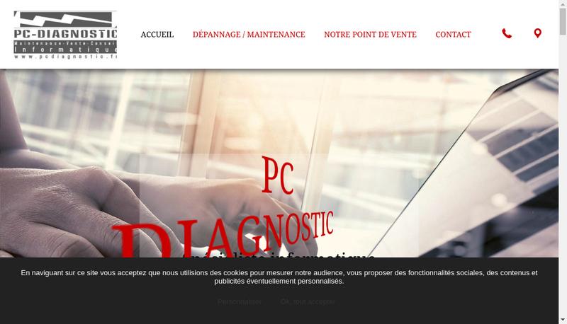 Capture d'écran du site de Agenda