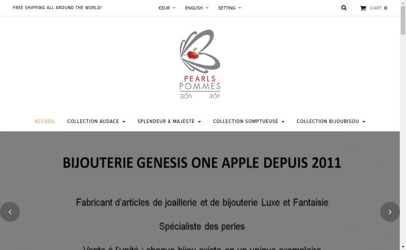 Capture d'écran du site de Genesis One Apple EURL