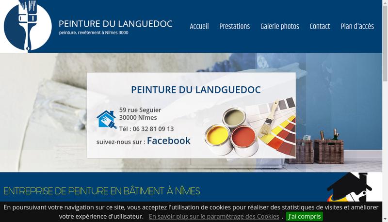 Capture d'écran du site de Peinture du Languedoc