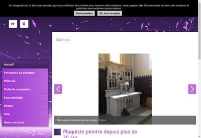 Site internet de SARL Mathieu
