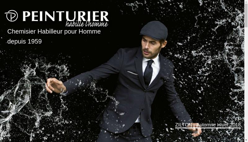 Capture d'écran du site de Peinturier Fougeres