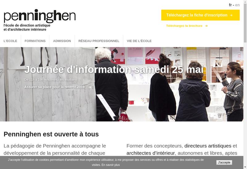Capture d'écran du site de Academie Julian Rive Gauche