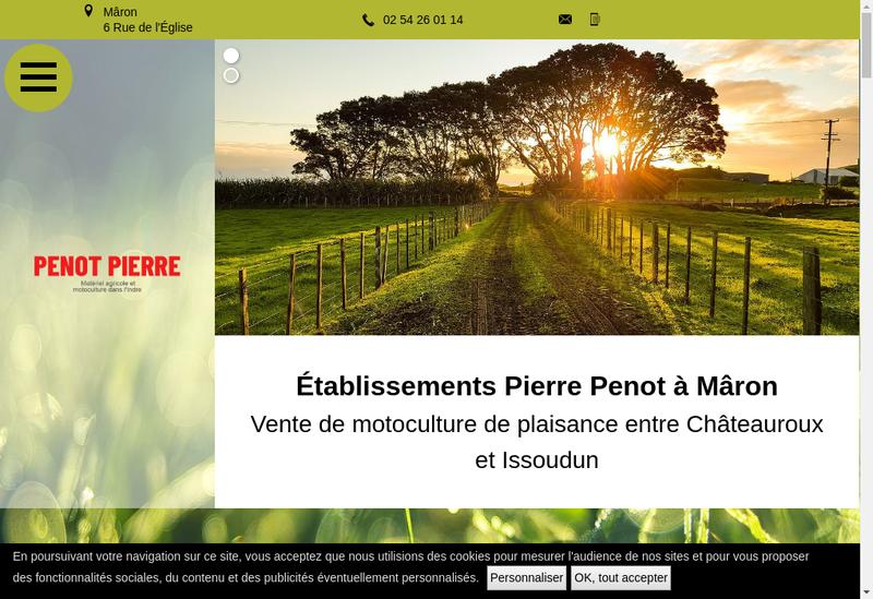 Capture d'écran du site de Etablissements Pierre Penot