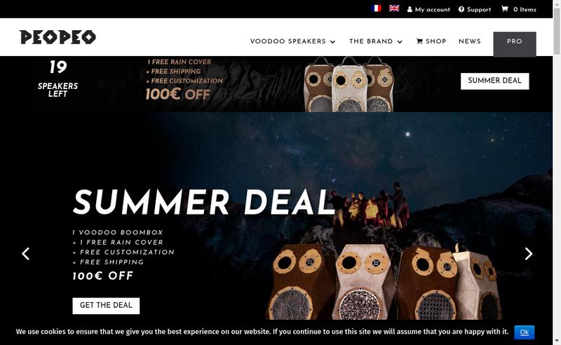 Capture d'écran du site de Peopeo