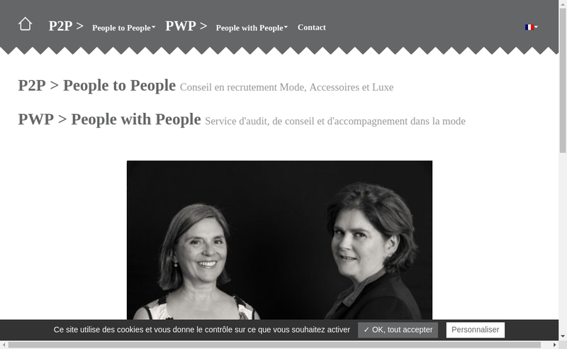 Capture d'écran du site de People To People