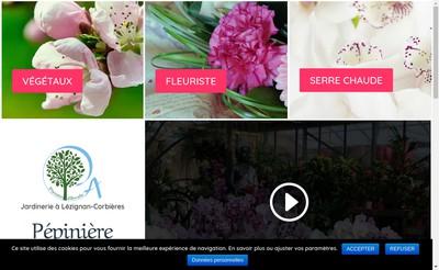 Site internet de Pepiniere d'Arcadie