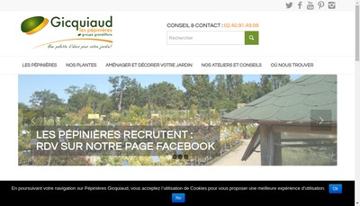 Site internet de Pepinieres Gicquiaud