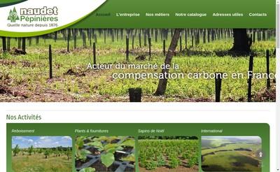 Site internet de Pepinieres Naudet Prechac
