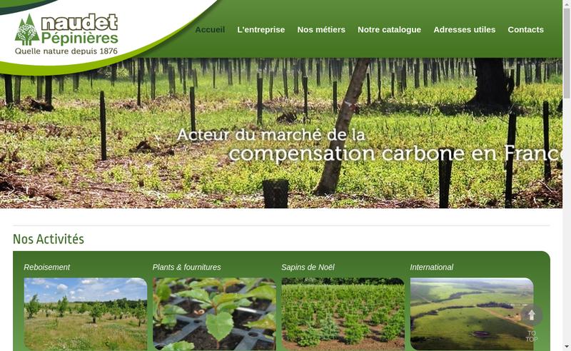 Capture d'écran du site de Pepinieres Naudet Prechac