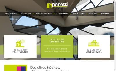 Site internet de Peretti Sas