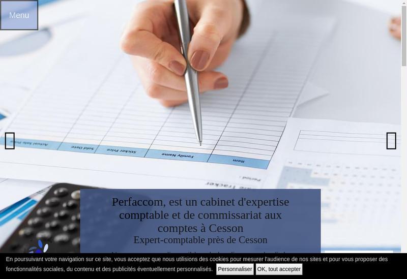 Capture d'écran du site de Alter Conseil