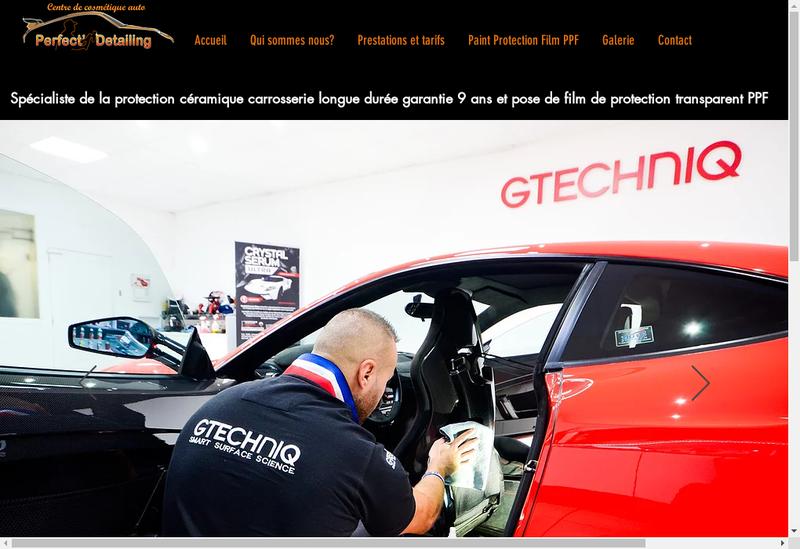 Capture d'écran du site de Perfect Detailing