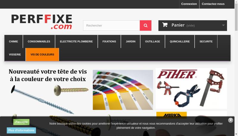 Capture d'écran du site de Perffixe