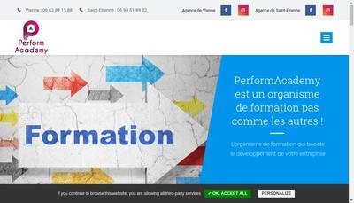 Site internet de Performacademy