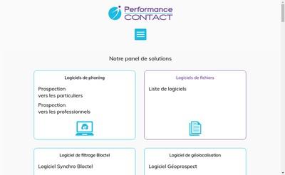 Site internet de Performance Contact