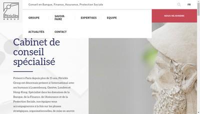 Site internet de Pericles Consulting
