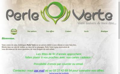 Site internet de Perle Verte