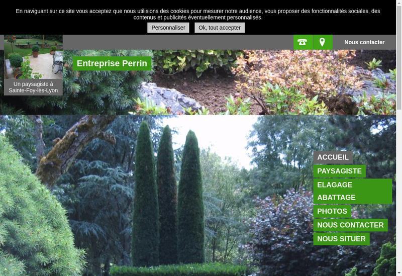 Capture d'écran du site de Entreprise Perrin