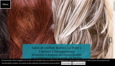 Site internet de Coiffure Barthel SARL
