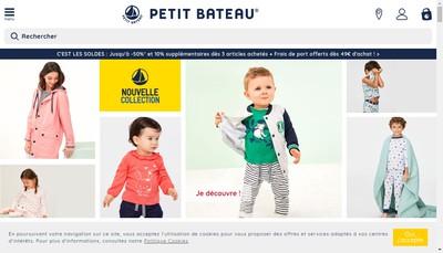 Site internet de Petit-Bateau