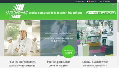 Site internet de Pt Forestier Loc Meubles Frigorifiques