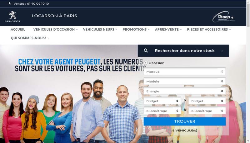 Capture d'écran du site de Locarson