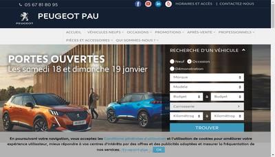 Site internet de Paloise Auto