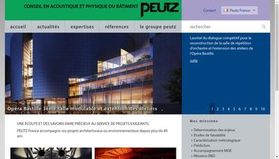 Site internet de Societe d'Ingenieurs Conseils en Acoustique Peutz et Associes
