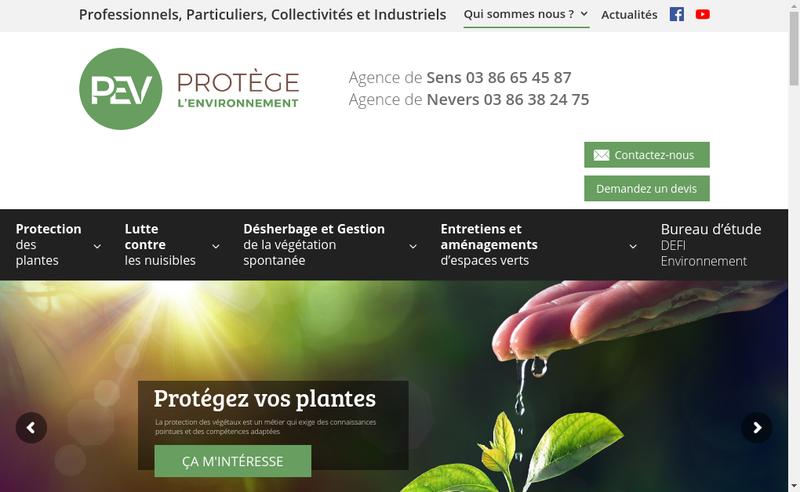 Capture d'écran du site de Defi Environnement