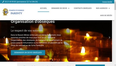 Site internet de SARL Parenty Pere et Fils