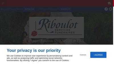 Site internet de SARL Riboulot et Fils