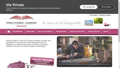 Site internet de Semaille Pere et Fils
