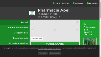 Capture d'écran du site de Apell Medical