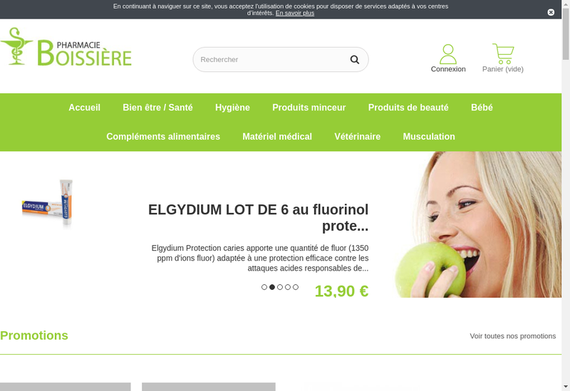 Capture d'écran du site de Pharmacie de la Boissiere