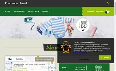 Site internet de Pharmacie Chanel