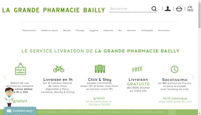 Capture d'écran du site de Pharba
