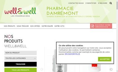 Site internet de Pharmacie Rubinstein