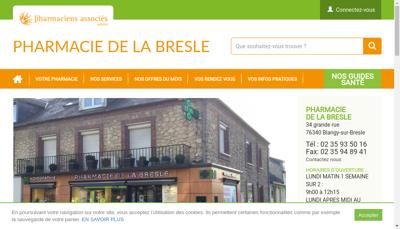 Capture d'écran du site de Pharmacie de la Bresle