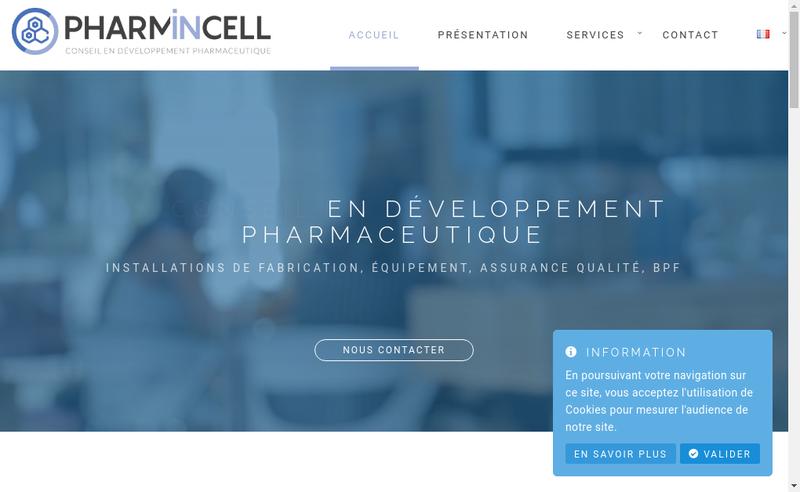 Capture d'écran du site de Pharmincell