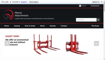 Site internet de Phenix Attachments